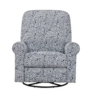 Right2Home Cotton Swivel Glider Recliner Indigo Paisley (DS-911-006-532)