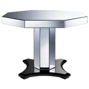 Right2Home 42 Inch Wide Casual Dining Table Top Smoke Mirrored (DS-D114008A)