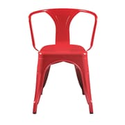 Euro Style Corsair Stacking Dining Chair in High Gloss Red - Set of 4 (04609RED)