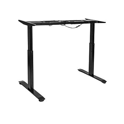 Seville Classics AIRLIFT™ S2 Electric Height-Adjustable Standing Desk (BASE ONLY), Black(OFF65802)