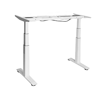 Seville Classics AIRLIFT® S3 Electric Standing Desk (Base Only) /w 4 Memory Buttons LED Height Display, White (OFF65815)