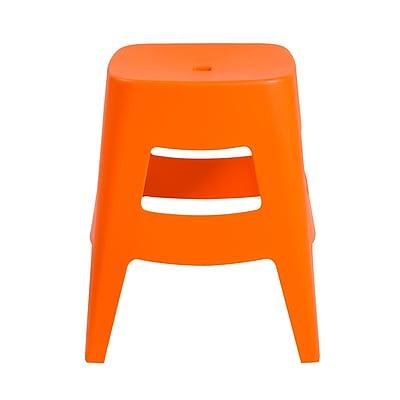 Euro Style Coda Stacking Stool in Orange (90333ORG-MP4)