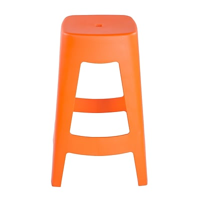 Euro Style Coda Stackable Counter Stool in Orange (90335ORG-MP4)