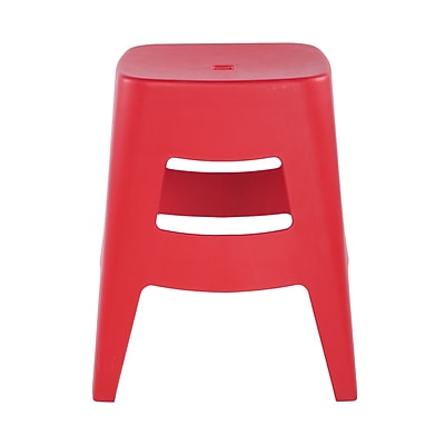 Euro Style Coda Stacking Stool in Red (90333RED-MP4)