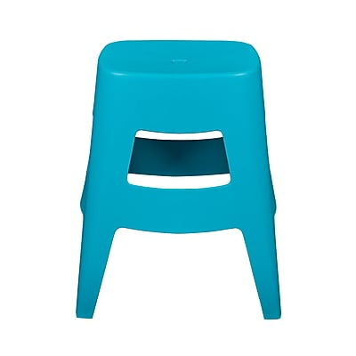 Euro Style Coda Stacking Stool in Teal (90333TEL-MP4)
