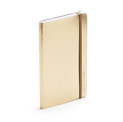 Poppin Gold 18 Month Medium Soft Cover Planner, 17-18, 24 Count