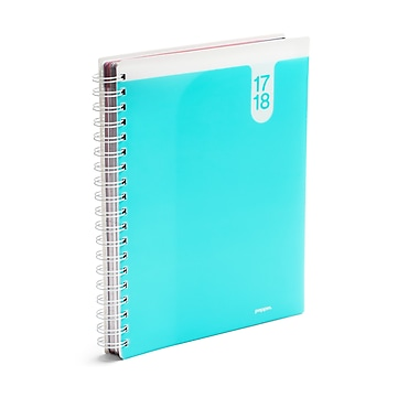 Poppin Aqua 18 Month Large Pocket Book Planner 17-18, 24 Count