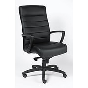 Mammoth Office Products Leather High Back Chair Black (M5100)