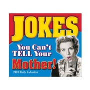 "2018 Sellers Publishing, Inc. 5"" x 6"" Jokes You Can't Tell Your Mother Boxed Daily Calendar (CB0252)"