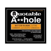 "2018 Sellers Publishing, Inc. 5"" x 6"" Quotable A**Hole, The: Bitter Barbs, Cutting Comments, And Caustic Comebacks (CB0260)"