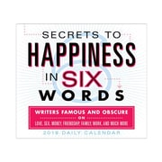 "2018 Sellers Publishing, Inc. 5"" x 6"" Secrets To Happiness In Six Words Boxed Daily Calendar"