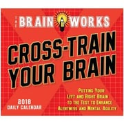 "2018 Sellers Publishing, Inc. 5"" x 6"" Cross-Train Your Brain, Brainworks Boxed Daily Calendar"