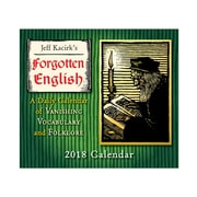 "2018 Sellers Publishing, Inc. 5"" x 6"" Forgotten English Boxed Daily Calendar (CB0247)"
