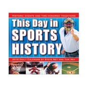 "2018 Sellers Publishing, Inc. 5"" x 6"" This Day In Sports History Boxed Daily Calendar (CB0268)"