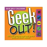"2018 Sellers Publishing, Inc. 5"" x 6"" Geek Out Boxed Daily Calendar (CB0249)"