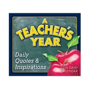 "2018 Sellers Publishing, Inc. 5"" x 6"" Teacher's Year: Daily Quotes & Inspirations Boxed Daily Calendar (CB0266)"