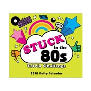 "2018 Sellers Publishing, Inc. 5"" x 6"" Stuck In The 80's Trivia Challenge Boxed Daily Calendar (CB0265)"