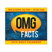 "2018 Sellers Publishing, Inc. 5"" x 6"" Omg Facts: Hard To Believe, True Facts - All Year Long Boxed Daily Calendar (CB0255)"