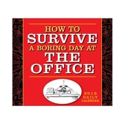 "2018 Sellers Publishing, Inc. 5"" x 6"" How To Survive A Boring Day At Office Boxed Daily Calendar (CB0277)"