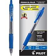 Pilot G2 Retractable Gel Pens, Bold Point, Blue Ink, Dozen (31257)
