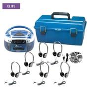 Hamilton Buhl AudioStar ELITE, 6 Station Listening Center With Personal Leatherette Headphones (LCAS4)