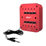 Hamilton Buhl Jack Box, Red, 8 Position, 3.5mm Stereo With Individual Volume Controls (JBP8VAR)