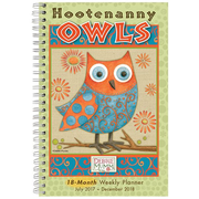 "2018 Sellers Publishing, Inc. 9"" x 6"" Hootenanny Owls (CW0222)"
