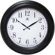 "Infinity Instruments 24"" Round Wall Clock, Black Finish  (15212BK-4025)"