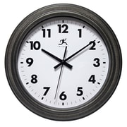 "Infinity Instruments 11.5"" Round Wall Clock, Antique Black Finish  (15354RS-4246)"