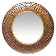 "Infinity Instruments 15.75"" Round Wall Mirror, Gold/Copper Finish (15367GD)"