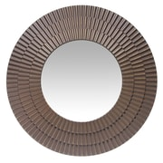 "Infinity Instruments 22"" Round Wall Mirror, Antique Brass Finish  (15369AG)"