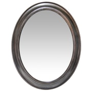 "Infinity Instruments 30"" Oval Wall Mirror, Antique Silver Finish  (15370AS)"