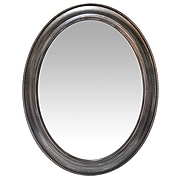 """Infinity Instruments 30"""" Oval Wall Mirror, Antique Silver Finish  (15370AS)"""