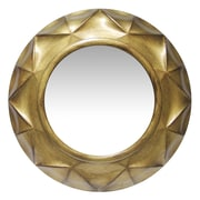 "Infinity Instruments 20"" Round Wall Mirror, Brushed Gold Finish  (15383AG)"
