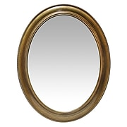 "Infinity Instruments 30"" Oval Wall Mirror, Brushed Gold Finish  (15384AG)"