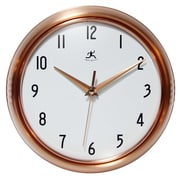 """Infinity Instruments 9.5"""" Round Wall Clock, Copper Finish  (15422-COPPER)"""