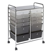 ECR4Kids 12 Drawer Mobile Organizer, Grayscale (ELR-20104-GY)