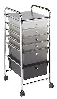 ECR4Kids 6 Drawer Mobile Organizer, Grayscale (ELR-20102-GY)