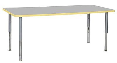 "ECR4Kids 36""W x 72""L Rectangular Contour Activity Table Grey/Squash/Silver Super Legs (14713-GYSQSVSL)"