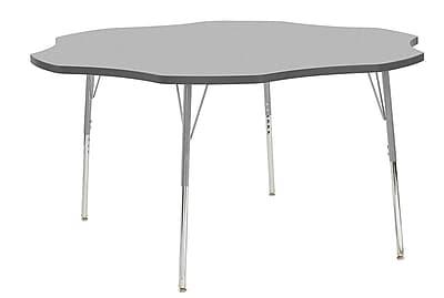 "ECR4Kids 60"" Flower Contour Activity Table Grey/Grey/Silver Standard Legs (14702-GYGYSVSS)"