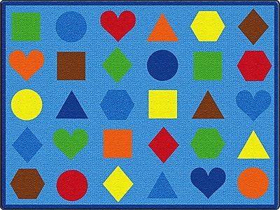 ECR4Kids Lots of Shapes Seating Rug, 9'x12' Rectangle (ELR-FE902-54A)