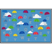ECR4Kids P is for Parachute Activity Rug, 9'x12' Rectangle (ELR-FE906-54A)