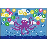ECR4Kids Olive the Octopus Activity Rug, 6'x9' Rectangle (ELR-FE905-34A)