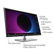 """HP 32s Monitor, 31.5"""" Full HD IPS LED Monitor (HDMI, VGA), Silver/Black"""