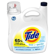 Tide Free and Gentle Unscented Laundry Detergent Liquid, 154 Oz. (57471)