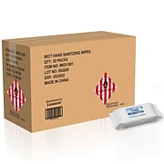 Hand Sanitizer Wipes, 80 Wipes, 30/CT (MED1501CT)