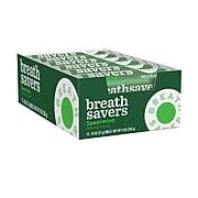 BREATH SAVERS Spearmint Flavored Sugar Free Breath Mints, Bulk Mint Candy, 0.75 oz, 24 Rolls/CT (HEC71433)