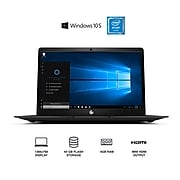 "DP Core Innovations CLT146401BL 14.1"" Notebook, Intel Atom Z8350, 4GB Memory, 64GB eMMC, Windows 10 Home S, Black"