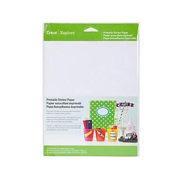 "Cricut Explore Printable Stiker Paper, 11"" x 8.5"", White, 10 Sheets/Pack (2002530)"