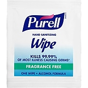 Purell® Individually Wrapped Sanitizing Hand Wipes, 1,000/Carton (9021-1M)